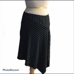 Asymmetrical blue &  black  skirt